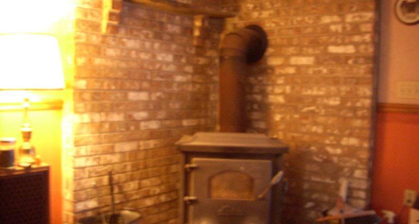 Build Brick Chimney Wood Stove Uttermost Huw
