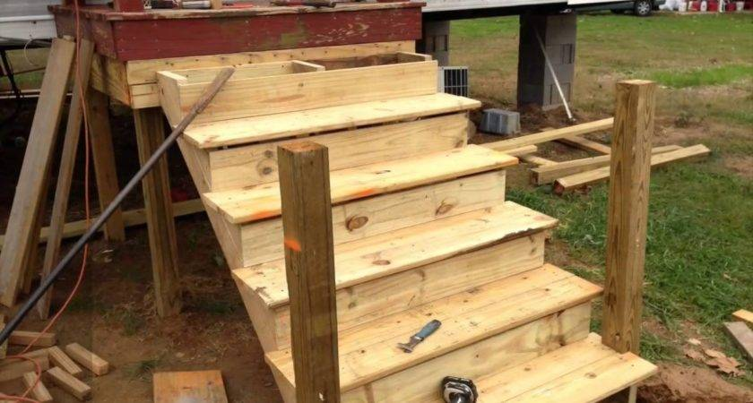 Build Deck Onto Used Mobile Home Youtube