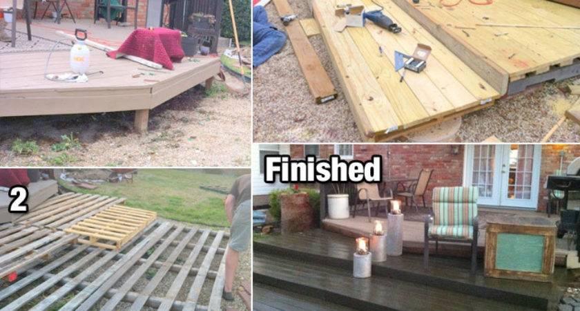 Build Diy Deck Wood Pallets Cheap Life