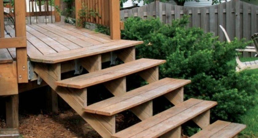 Build Four Step Porch Mobile Home Decks