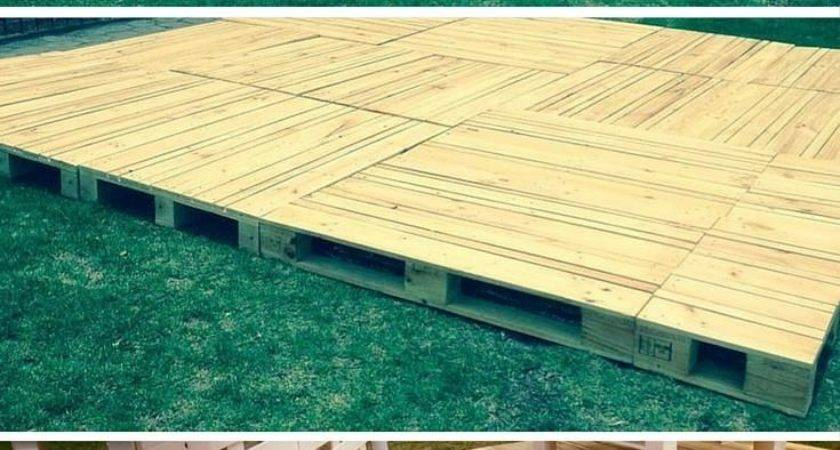 Build Pallets Deck Furniture Upcycling Ideas