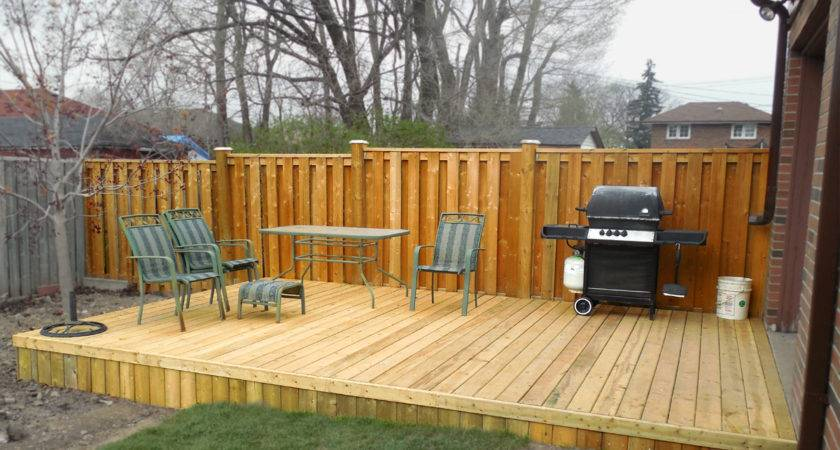 Build Small Deck Platform American Hwy