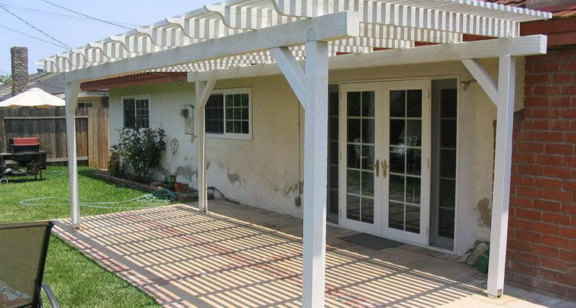 Build Standing Patio Cover Covered