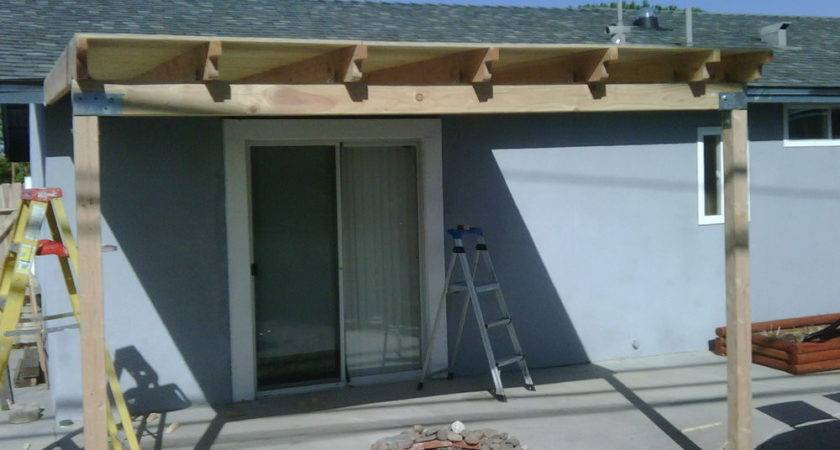 Build Wood Patio Cover Step Modern