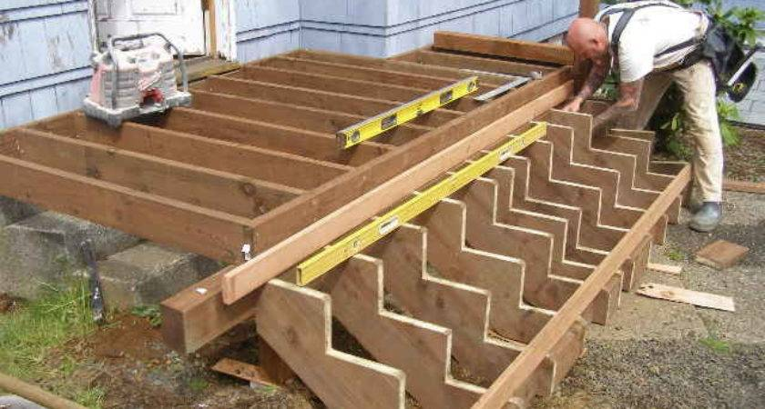 Building Deck Stairs Wonderful Woodworking