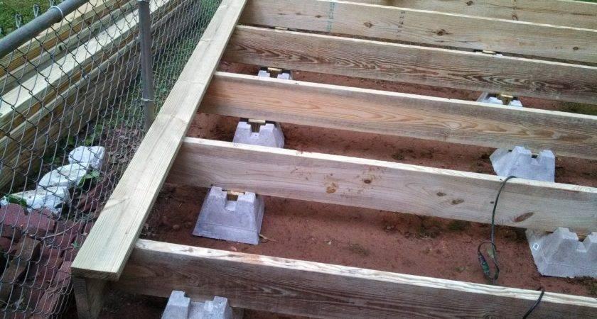 Building Decks Deck Block Piers Best
