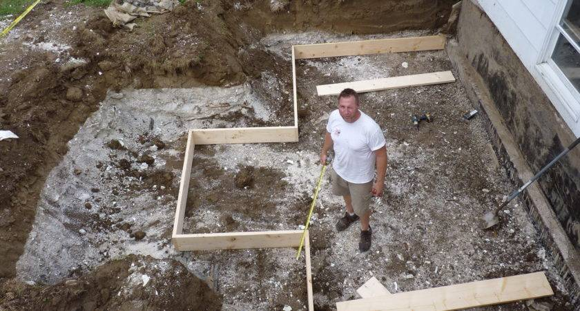 Building Ground Level Deck Footings Home Design Ideas