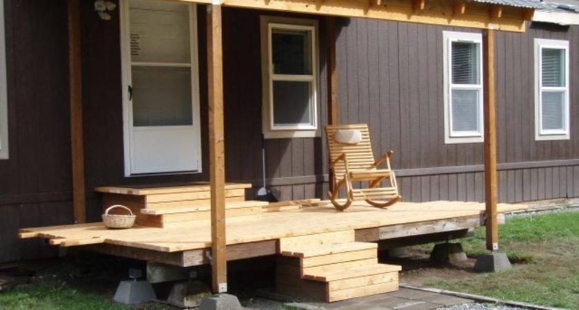 Building Porch Roof Mobile Home Design Ideas