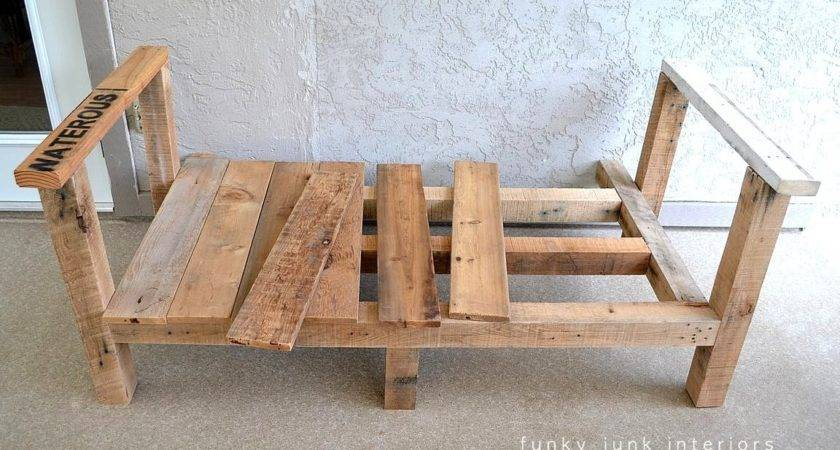 Built Pallet Wood Sofa Part Funky Junk Interiors