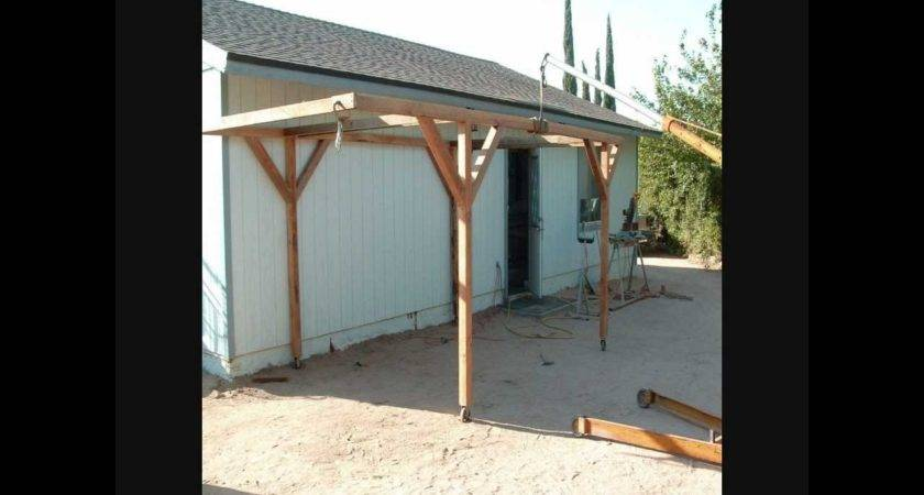 Built Rolling Carport Little Money Youtube