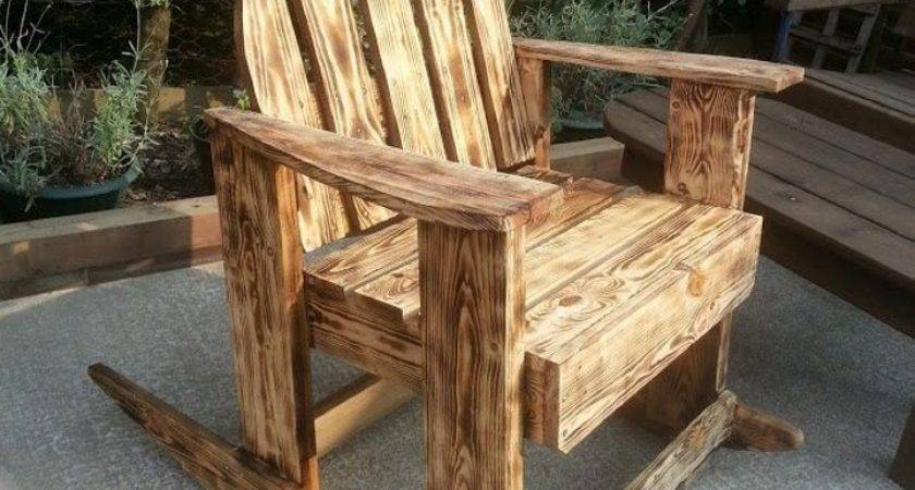 Burnt Wood Effects Pallets Outdoor Chair Pallet Ideas