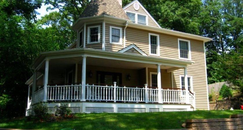 Cape Cod Home Front Porch Victorian Esque