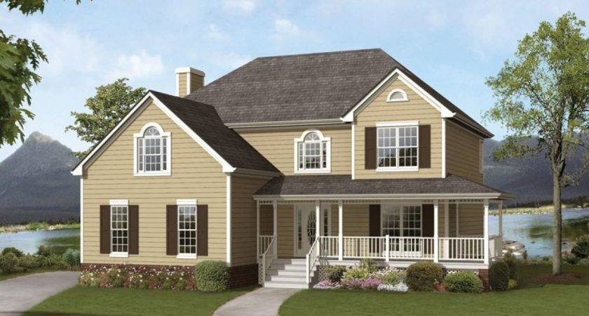 Cape Cod Style House Wrap Around Porch