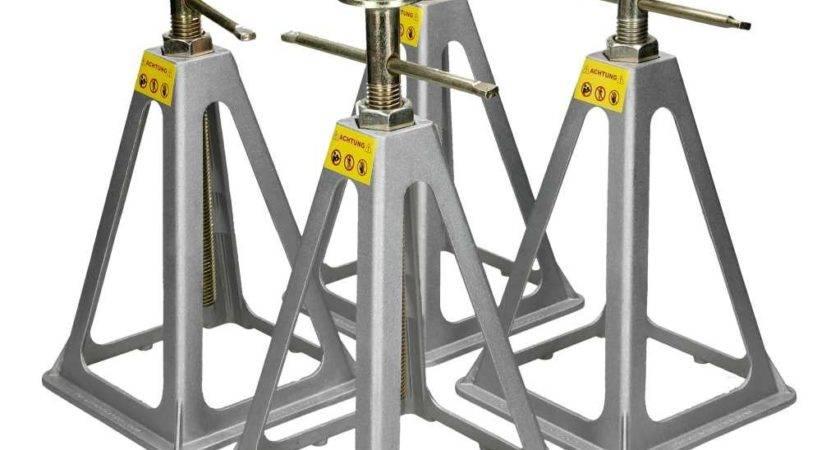 Caravan Axle Stands Static Support Set Leveller Floor