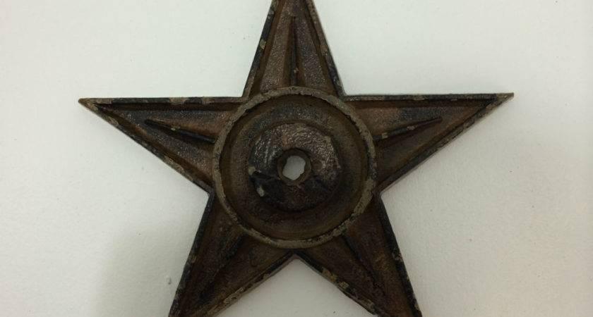 Cast Iron Metal Star Rustic Western Wall Decor