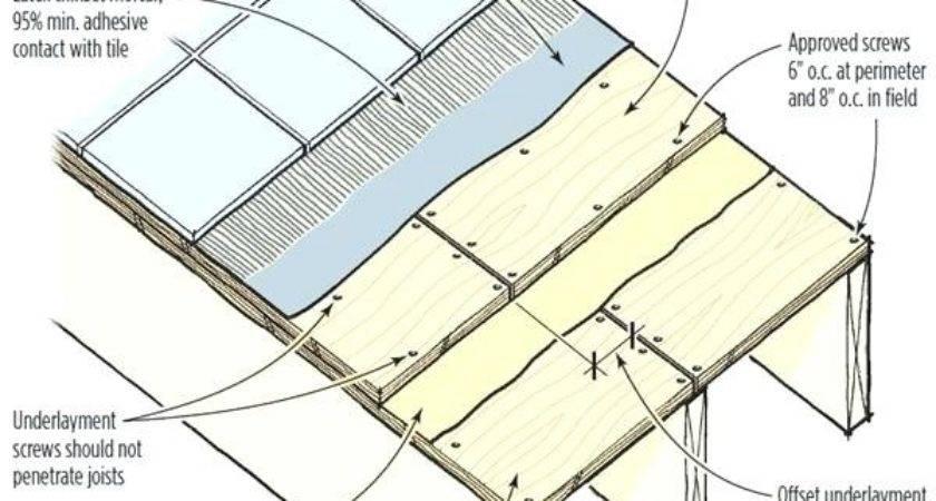 Ceramic Tile Wood Subfloor Design Ideas