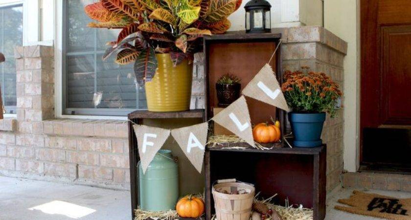Cheap Cute Fall Front Porch Decorating Ideas