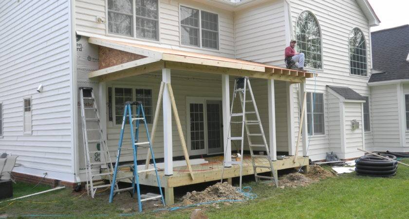 Chesterfield Screen Porch Framing Completed Ready