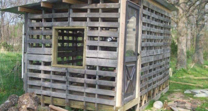 Chicken Coop Made Shipping Pallets Tbn Ranch