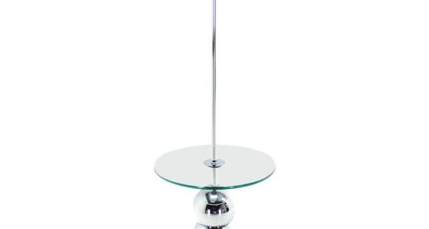 Chrome Globes Glass Floor Lamp Globe
