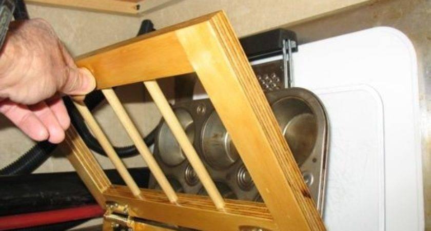 Clever Cabinet Storage Idea Pans Sheets