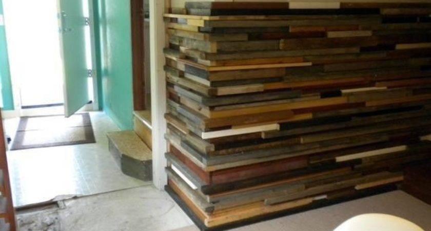 Close Diy Salvaged Wood Wall