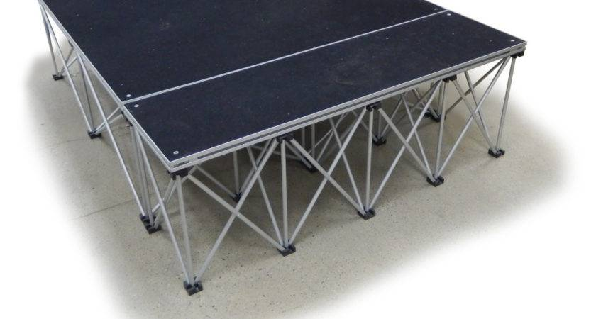Collapsible Portable Presentation Platform Carpeted Deck