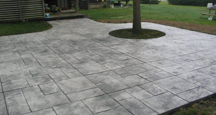 Colored Concrete Patio Garden Treasure