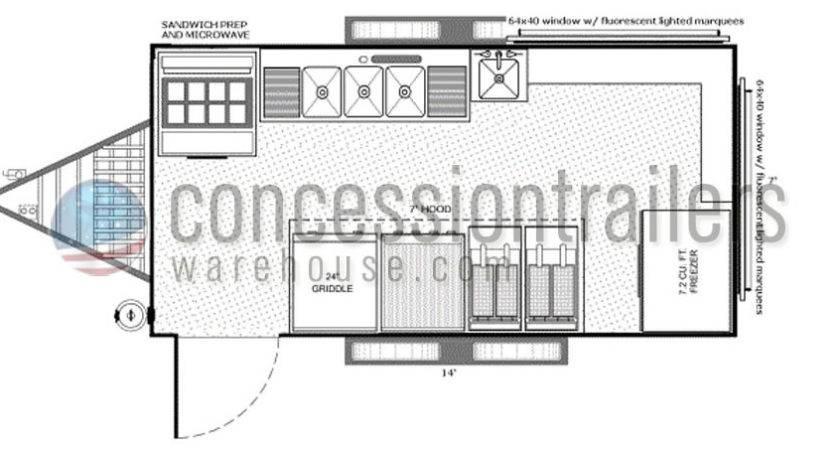 Concession Trailer Floor Plans Meze Blog