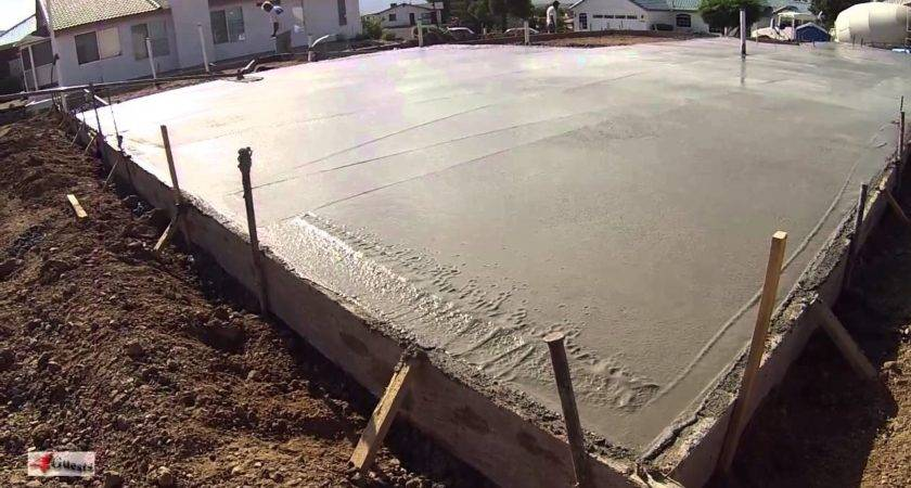 Concrete Cement Workers Laying House Foundation Arizona