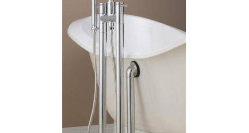 Contemporary Tub Faucet Hand Shower Standing