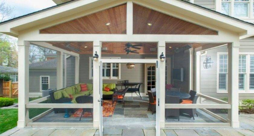 Convert Flagstone Patio Into Screened Porch