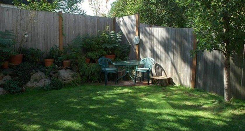 Corner Backyard Landscape Small Landscaping