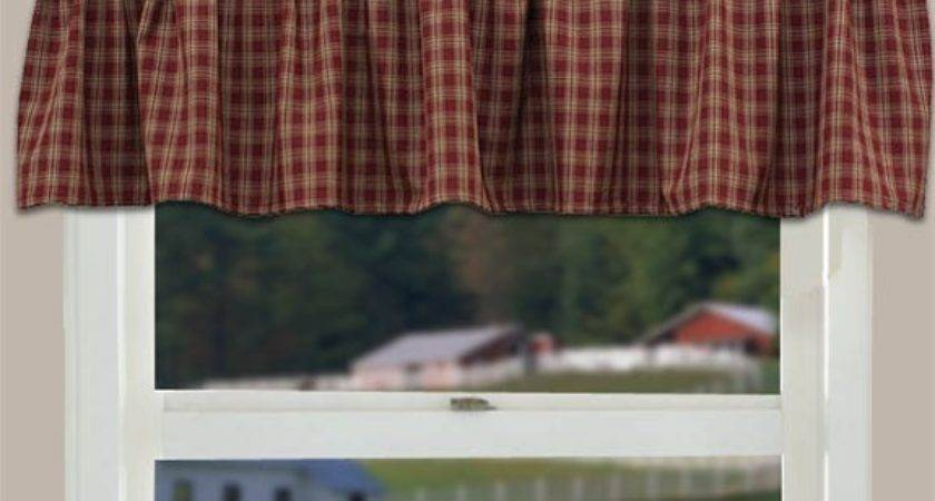 Country Curtain Valance Sturbridge Wine Primitive