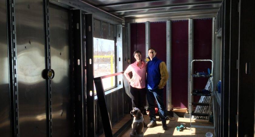 Couple Building Semi Trailer Tiny Home Shelter Blog