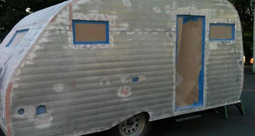 Couple Rebuilds Serro Scotty Sportsman Camper Trailer
