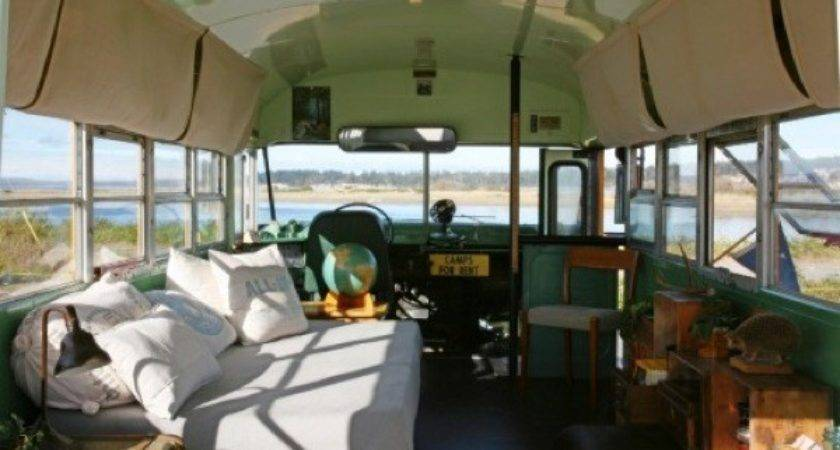 Couple Turn School Bus Into Tiny House Days