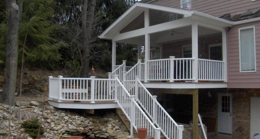 Covered Back Porches Deck Designs Porch