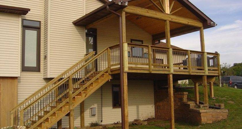 Covered Deck Plans Home Design Architecture