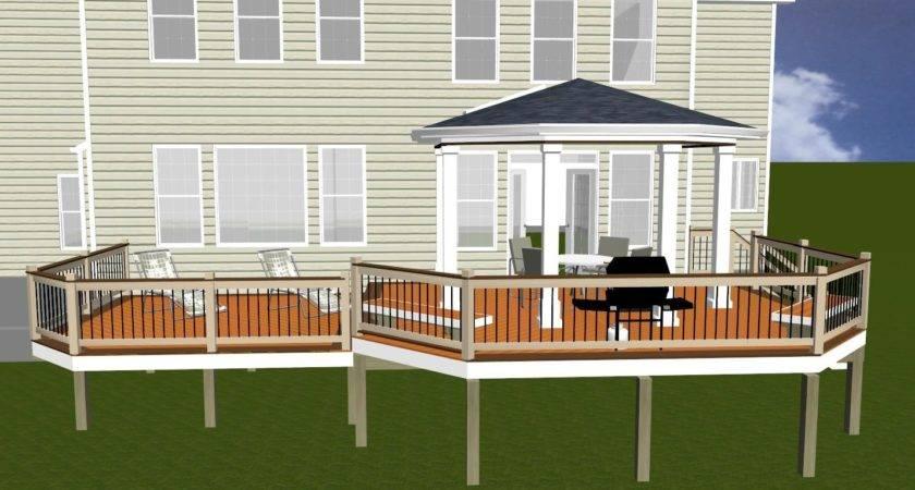 Covered Porch Design Rendering Highland Maryland