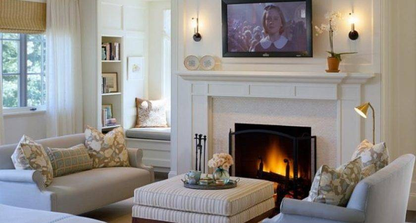 Cozy Living Rooms Fireplaces