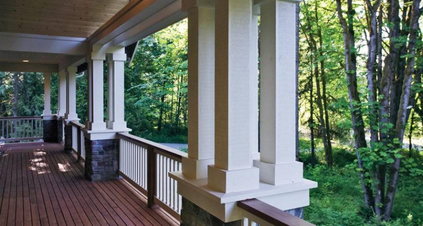 Craftsman House Plans Large Porches Home Design