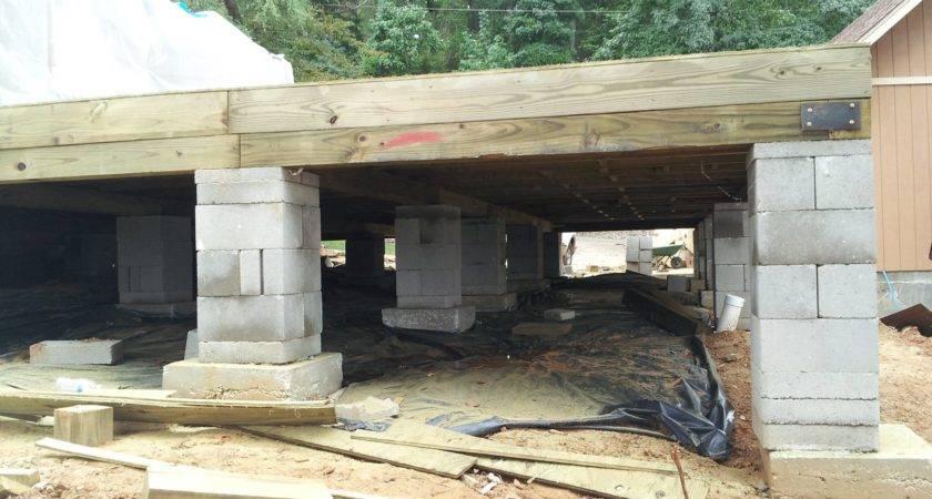 Crawlspace Pier Beam Foundation Repair House