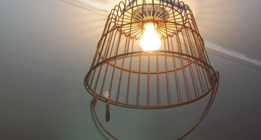 Curbside Collector Wire Basket Light Fixture Garage