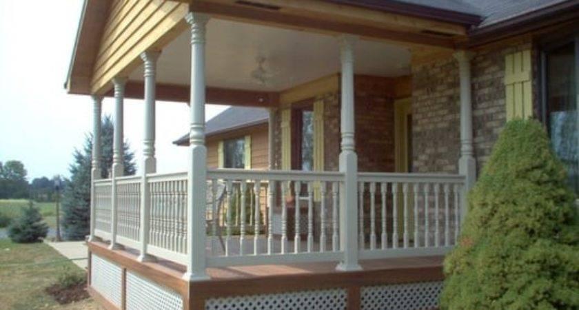 Custom Archadeck Open Front Porch Fiberon Composite