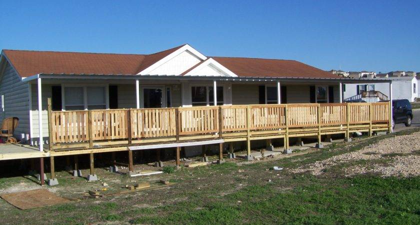 Custom Deck Steel Awning Attached Manufactured Home
