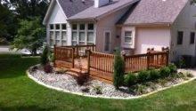 Deck Landscape Ideas Winkler Lawn Care