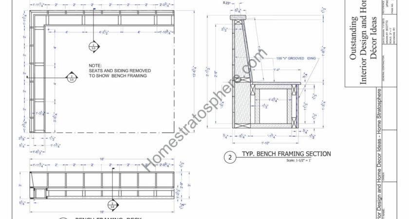 Deck Plan Built Benches Seating Storage