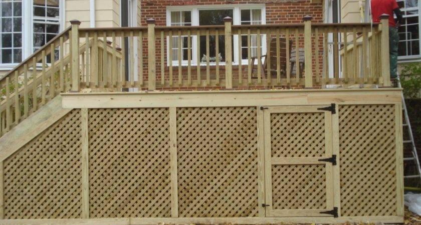 Deck Skirting Diy Home Landscapings Cool