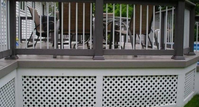 Deck Skirting Panels Design Idea Decors